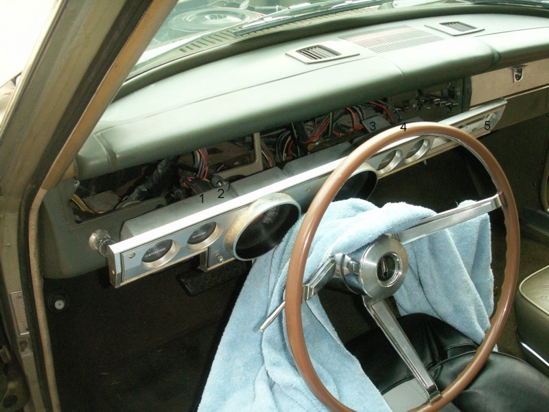 1966 Barracuda Instrument Panel Removal And Disassembly Photos Rh Jamesmskipper Us Gauges Chrysler